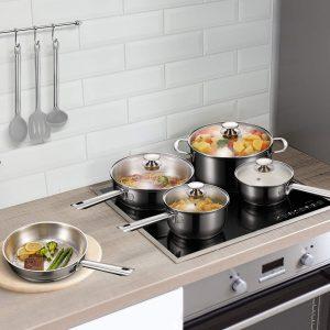 12PC Deluxe Qualité Casserole Casserole s//s Faitout Poêle Induction Cookware